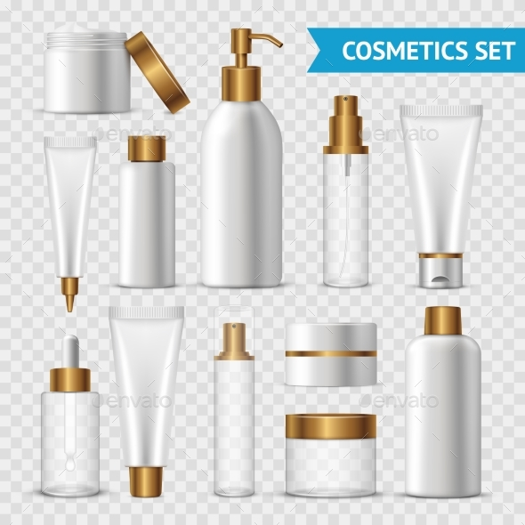 Transparent Cosmetics Icon Set - Man-made Objects Objects