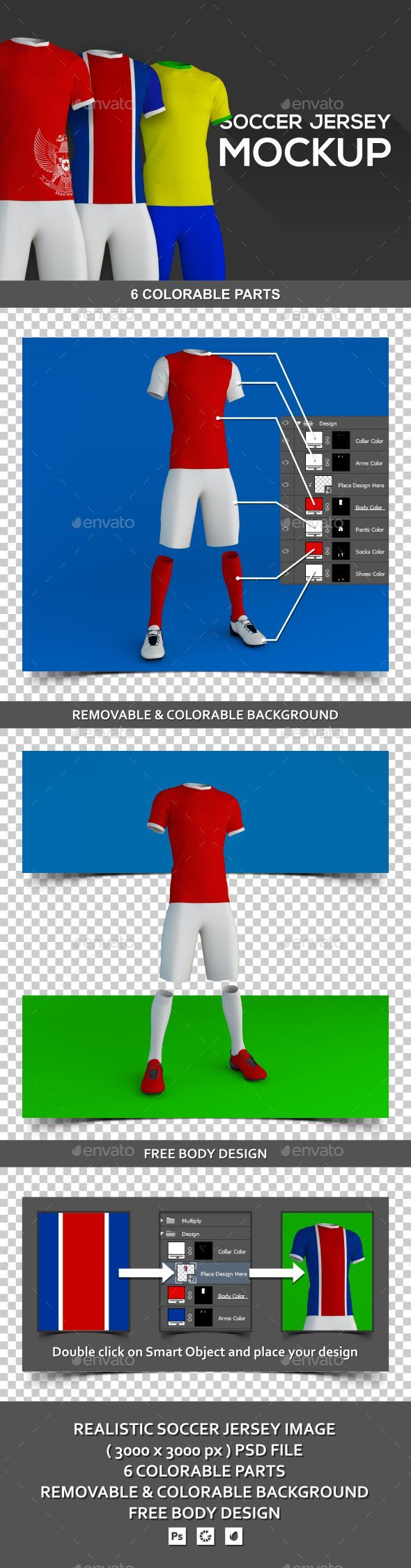Soccer Jersey Mockup - Miscellaneous Apparel