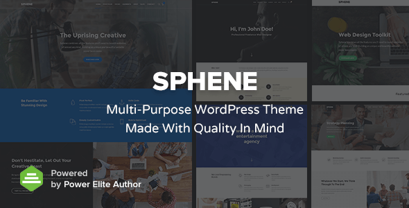 Sphene – All In One – Creative, Corporate, Photography, One Page and Shop WordPress Theme