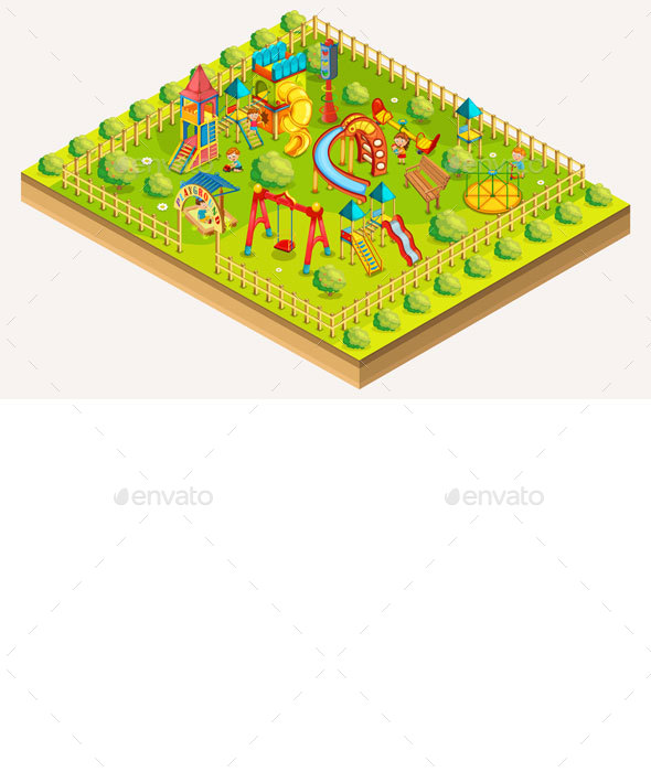 Children Playground Isometric - Man-made Objects Objects