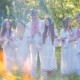 Midsummer. A Group of Young People of Slavic Appearance at the Celebration of Midsummer. - VideoHive Item for Sale