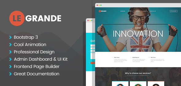LeGrande - Corporate PSD Template - Corporate PSD Templates