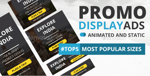 Promotion Banner Ads Template - Static and GIF Version - Banners & Ads Web Elements