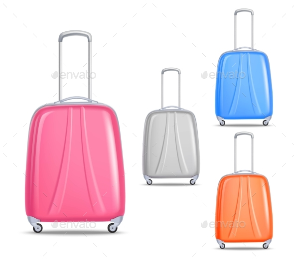 Lightweight Colorful Plastic Travel Luggage Set - Travel Conceptual