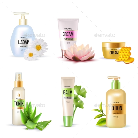 Organic Cosmetics Set - Health/Medicine Conceptual