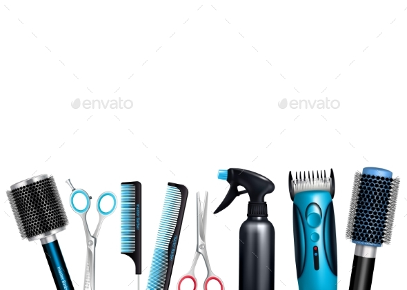 Hairdresser Tools Background - Services Commercial / Shopping