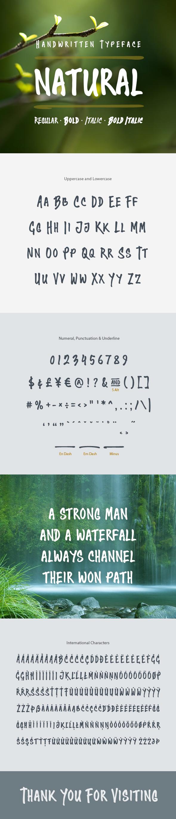 Natural Handwritten Font - Hand-writing Script