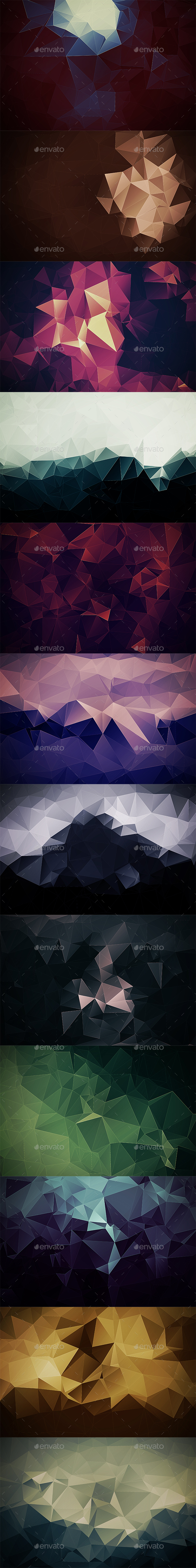 Abstract Polygonal Backgrounds Vol10 - Abstract Backgrounds