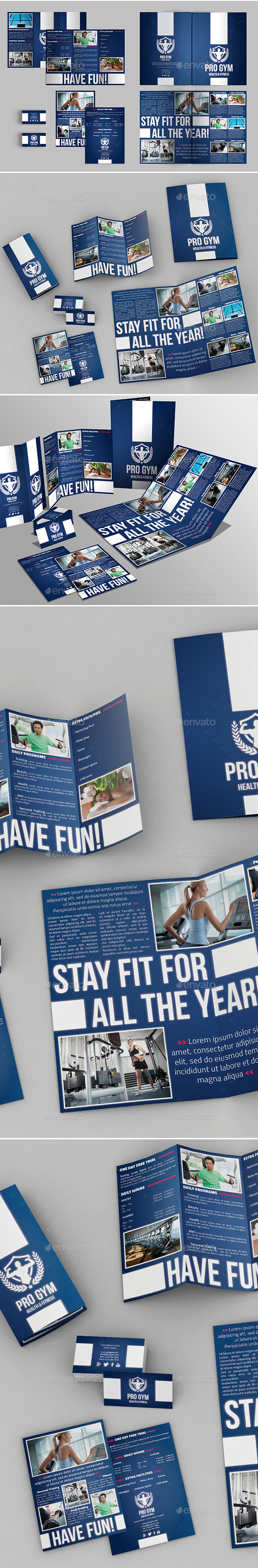 4 Pages Brochure + Trifold + Business Card - Corporate Brochures