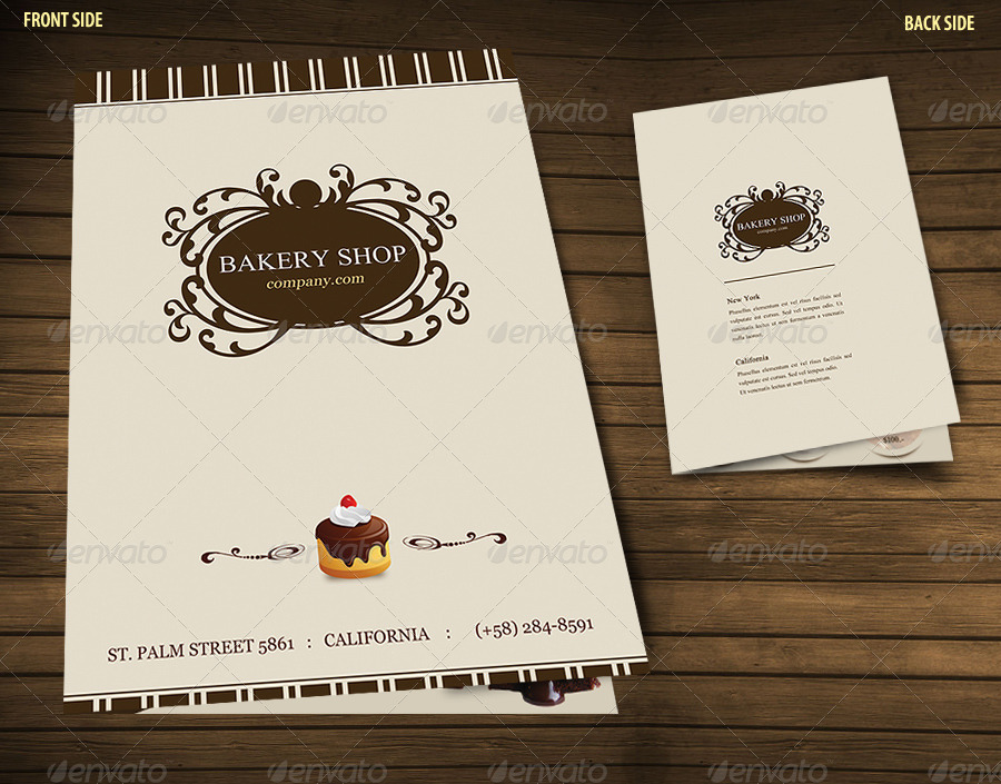 Bakery Menu Brochure by bluedesign | GraphicRiver
