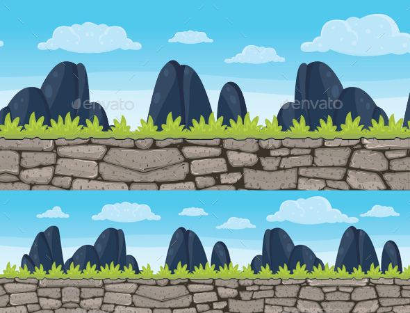 Cobblestone Background - Backgrounds Game Assets