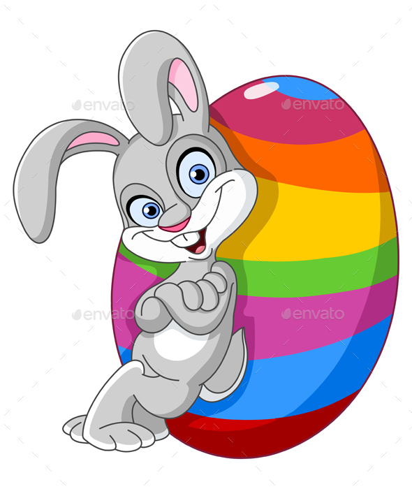 Bunny with Easter Egg - Miscellaneous Seasons/Holidays