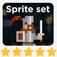 2D Pixel Character Sprite Set #1 - GraphicRiver Item for Sale