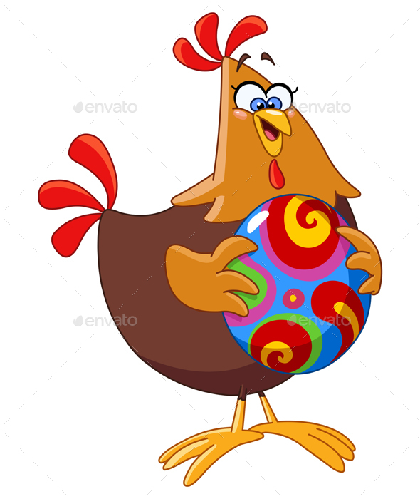 Chicken with Easter Egg - Miscellaneous Seasons/Holidays