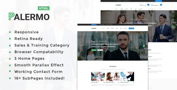 Palermo – Training, Coaching, Consulting & Business HTML Template