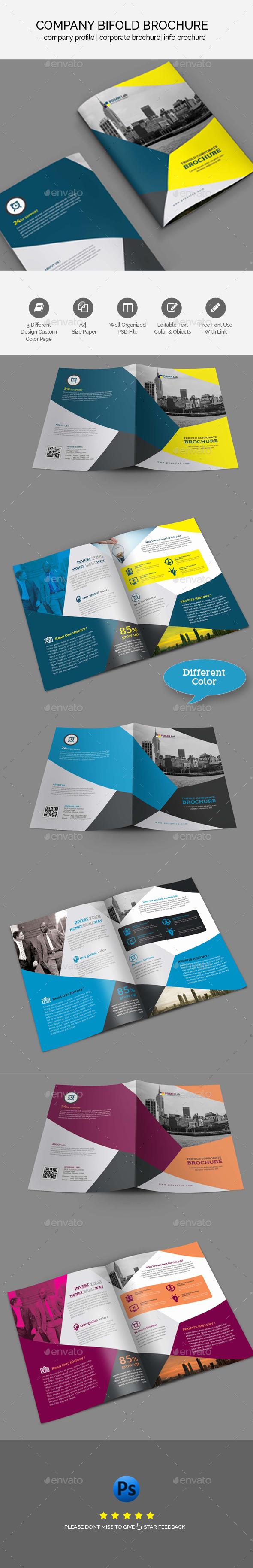 Bifold Business Brochure Template - Brochures Print Templates