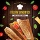 Italian Sandwich Flyer - GraphicRiver Item for Sale