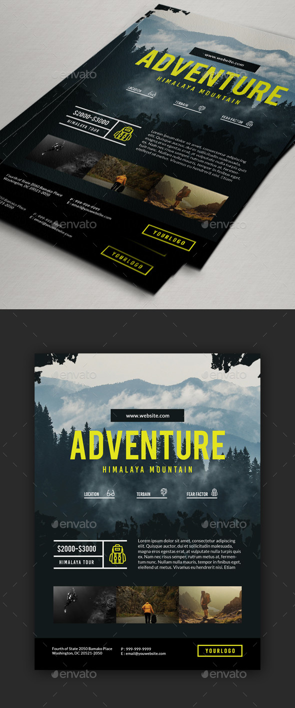Travel / Adventure Package Flyer - Holidays Events