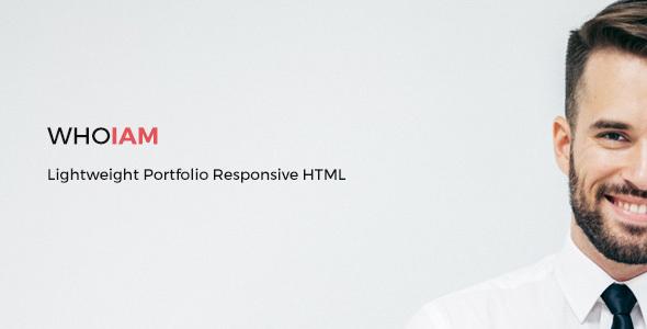 WHOIAM Lightweight Portfolio Responsive HTML