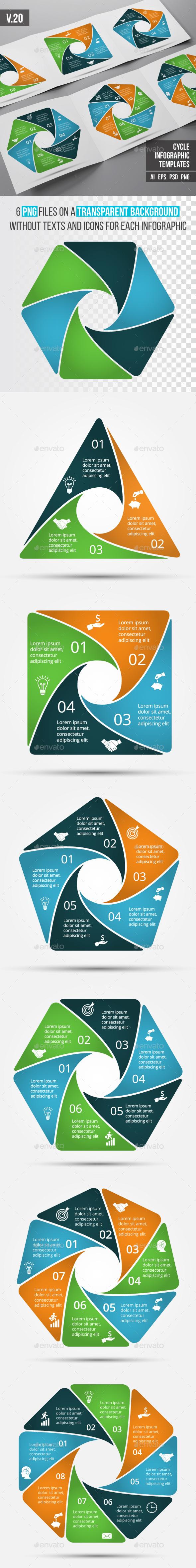 Infographics template set v.20 - Infographics