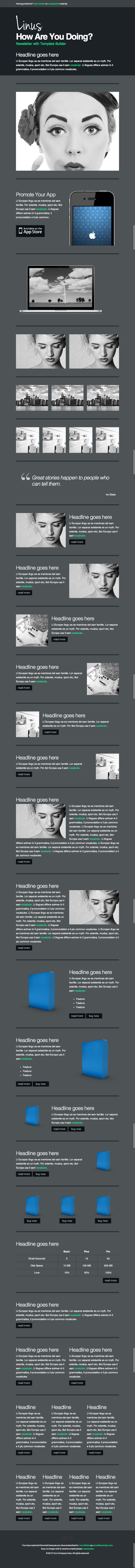 Linus - Responsive Newsletter with Template Builder by EverPress ...