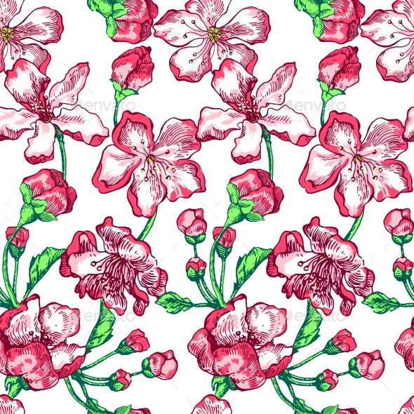 Apple Tree Sketch Pattern - Flowers & Plants Nature