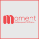 Moment One Page Corporate and Business Template Nulled