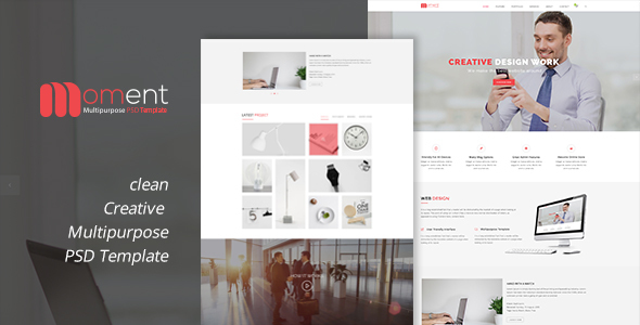 Moment One Page Corporate and Business Template - Corporate PSD Templates