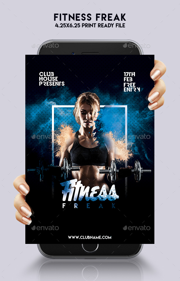 Fitness Freak Party Flyer - Clubs & Parties Events