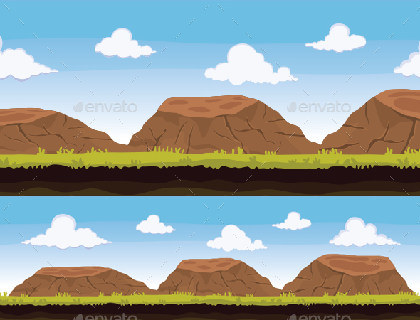 Rocky Background - Backgrounds Game Assets