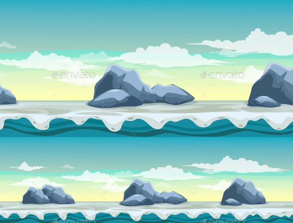 Rockbound Background - Backgrounds Game Assets