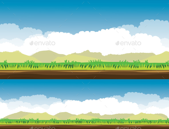 Pasture Background - Backgrounds Game Assets