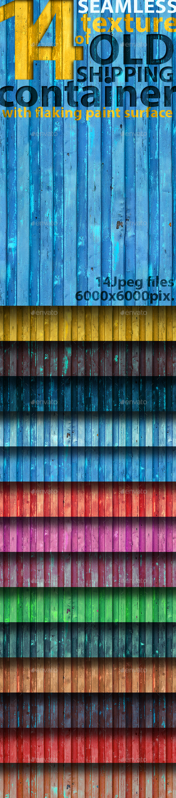 Seamless Textures of Shipping Container - Metal Textures