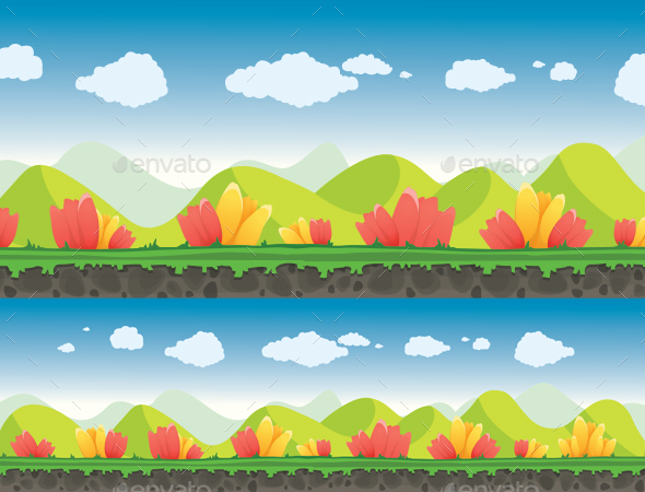 Florescent Background - Backgrounds Game Assets