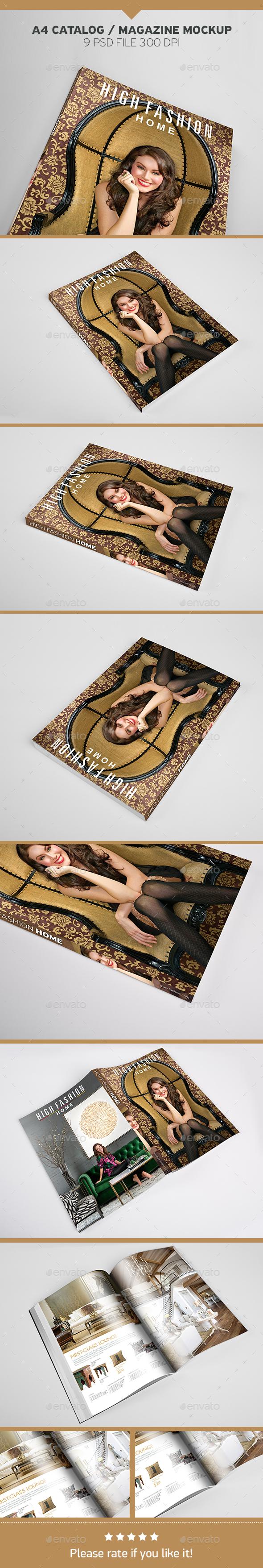 A4 Catalog / Magazine Mockup - Magazines Print