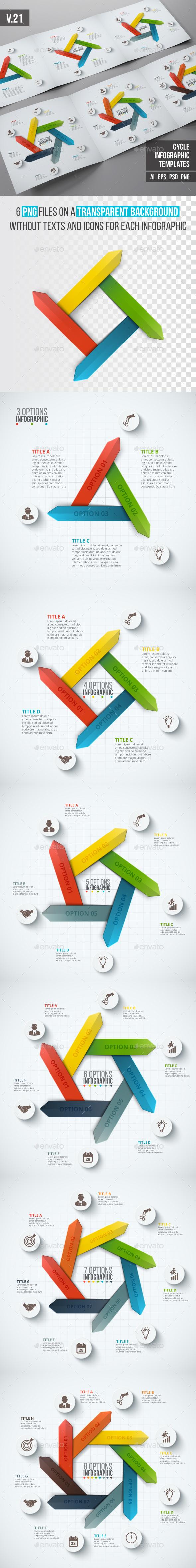 Infographics template set v.21 - Infographics