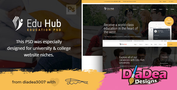 Edu Hub - College & Education PSD Template