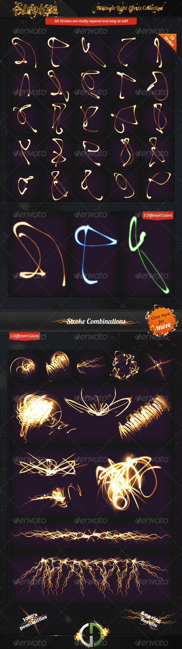 Ultimate Light Effects Collection (Strokes) - Decorative Graphics