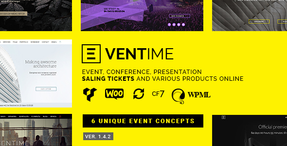 Eventime – Conference, Event, Fest, Ticket Store Theme