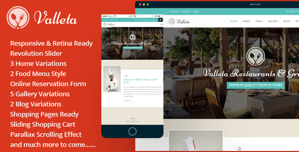 Valleta-Bootstrap Food & Restaurants HTML Template - Food Retail
