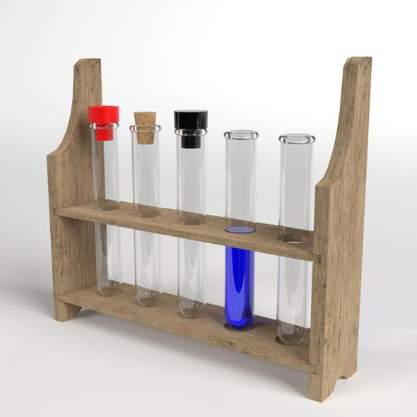 Test Tubes Rack - 3DOcean Item for Sale