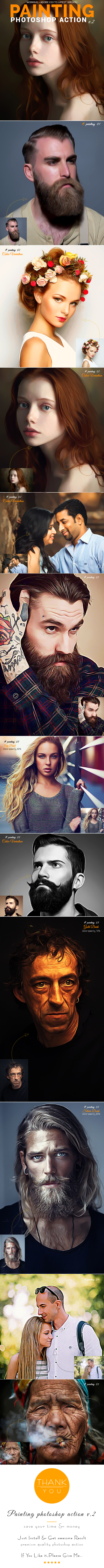 Painting Photoshop Action v.2 - Photo Effects Actions