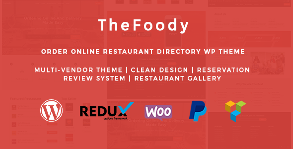 Thefoody – Multivendor Multiple Restaurant WordPress Theme