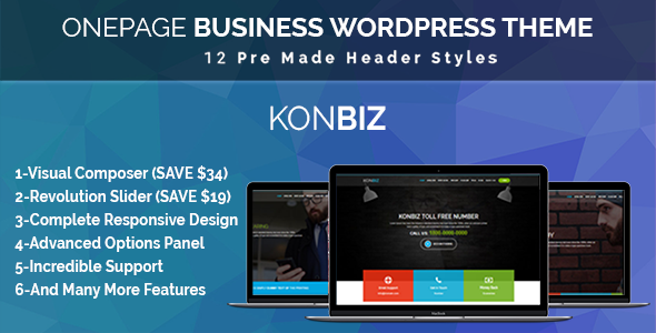 Onepage Business Theme – KonBiz