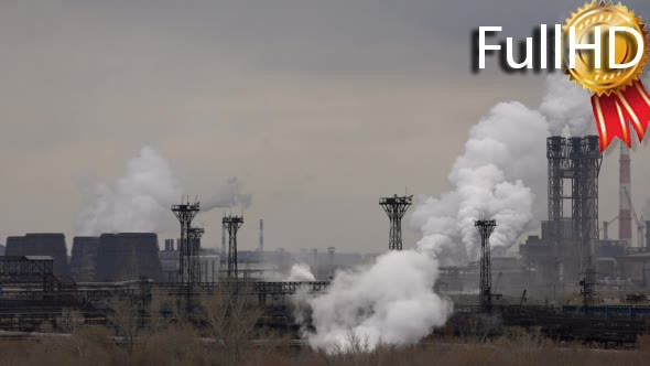 Atmospheric Air Pollution From Industrial Smoke