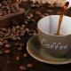 Coffee in Small Cup on a Saucer on Wooden Table