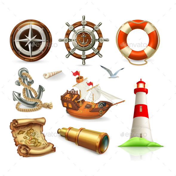 Marine Set - Vectors