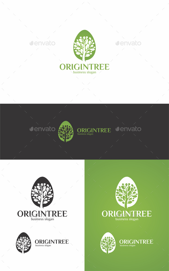 Origin Tree - Nature Logo Templates