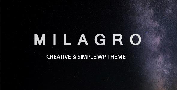 Milagro – One Page Multipurpose Theme