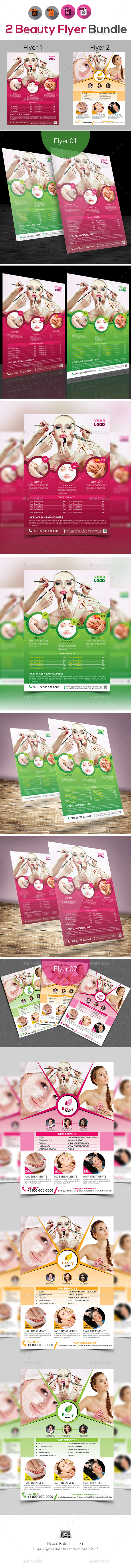 Beauty & Spa Flyers Templates - Corporate Flyers